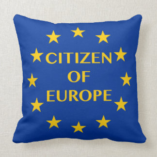 Citizen of Europe pillow