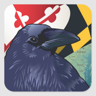Citizen Raven, Maryland's Nevermore Square Sticker