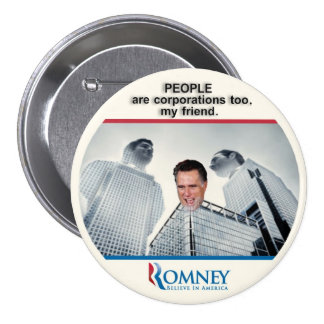 Citizen Romney 2012 7.5 Cm Round Badge