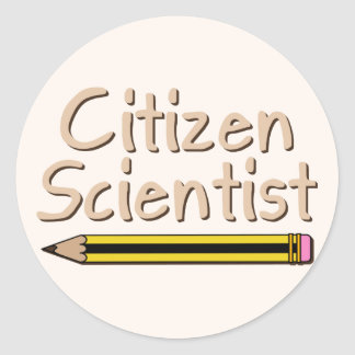 Citizen Scientist (Pencil) Classic Round Sticker