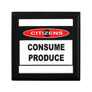 CITIZENS -  CONSUME PRODUCE KEEPSAKE BOXES