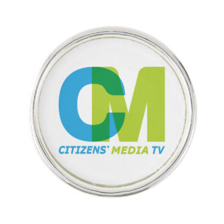 Citizens' Media TV Logo Lapel Pin