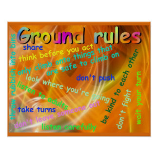 Citizenship, Ground rules for working together Poster