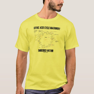 Citric Acid Cycle Machinery Embedded Within Krebs T-Shirt