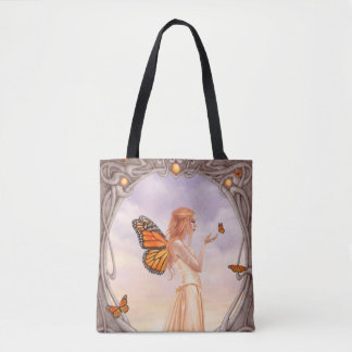Citrine Birthstone Fairy AllOver-Print Tote Bag