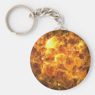 Citrine mass key ring