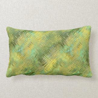 Citrine Yellow Glassy Texture Lumbar Cushion