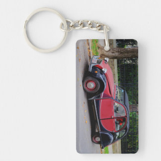 Citroen 2 CV Charleston Double-Sided Rectangular Acrylic Key Ring