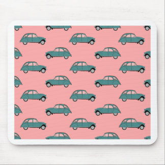 Citroen 2CVs - Green on Pink - Cars Mouse Pad