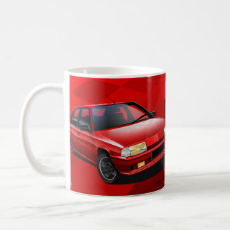 Citroen BX GTI 16V Illustrated Mug