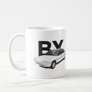 Citroen BX, white with text Coffee Mug
