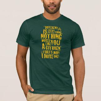 "Citroen ""Different is everything"" T-shirt design"