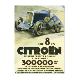 Citroen Sets a Distance Record Canvas Art Print