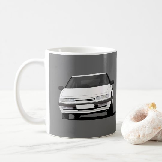 Citroën XM in white - two images per Coffee Mug