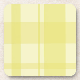 citron plaid coaster