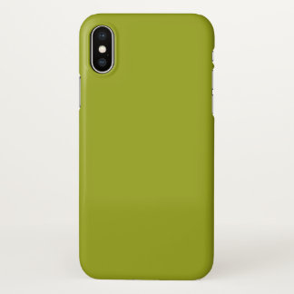 Citron Solid Color Background iPhone X Case