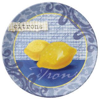 Citrons decorative plate porcelain plates