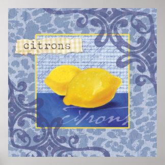 Citrons/lemons Wall Decor Poster