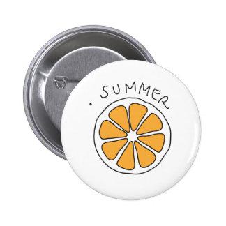 Citrus 6 Cm Round Badge