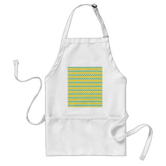 Citrus and Lime Chevron Yellow Green Zigzags Apron
