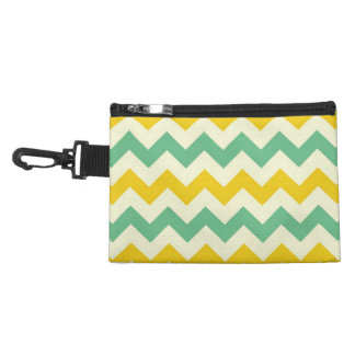 Citrus and Lime Chevron Zigzags Yellow Green Accessories Bags