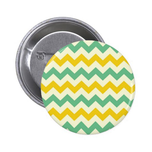 Citrus and Lime Chevron Zigzags Yellow Green Pins
