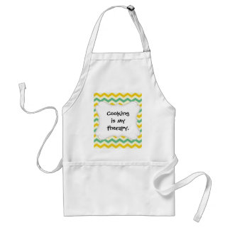 Citrus and Lime Chevron Zigzags Yellow Green Standard Apron