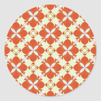 Citrus Avunclover Nostalgic Pattern Classic Round Sticker
