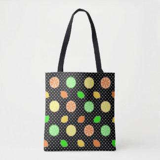 Citrus Bliss in Black Tote Bag