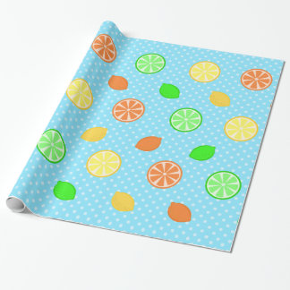 Citrus Bliss in Blue Wrapping Paper