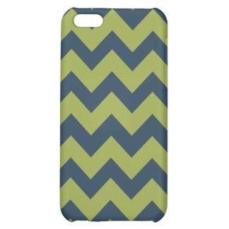 Citrus Blues Chevron Pattern iPhone 5C Cover