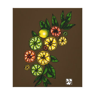 Citrus Bow Canvas Print