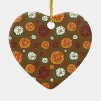 Citrus Ceramic Heart Decoration