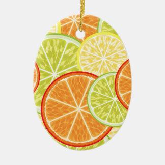 citrus ceramic oval decoration
