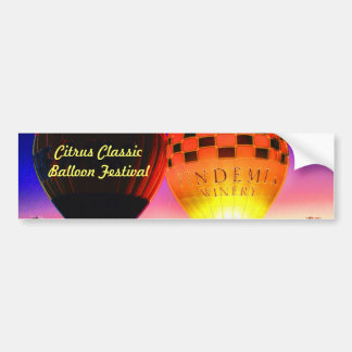 Citrus Classic Balloon Festival Bumper Sticker