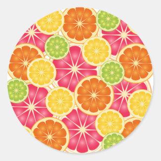 Citrus Classic Round Sticker