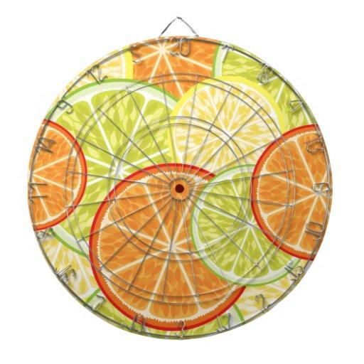 citrus dart board