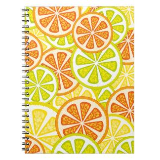 citrus design spiral notebook