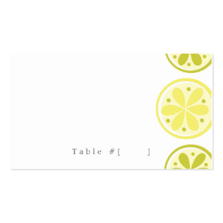 Citrus Escort Card Business Card