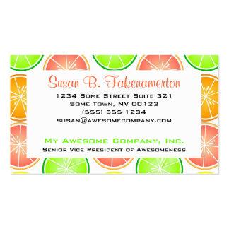 Citrus Fruit Print - Lemon Lime Orange Grapefruit Business Card Templates