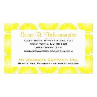 Citrus Fruit Print - Sliced Lemons Business Cards