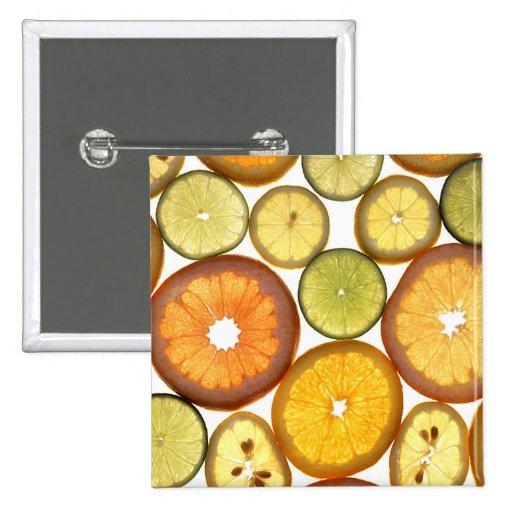 Citrus Fruit Slices Pins