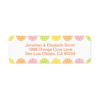 Citrus Fruit Slices Summer Return Address Label