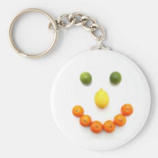 Citrus Fruit Smiley Smile Key Ring