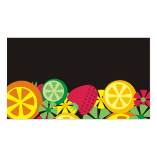 citrus fruit strawberry chef catering business car business card