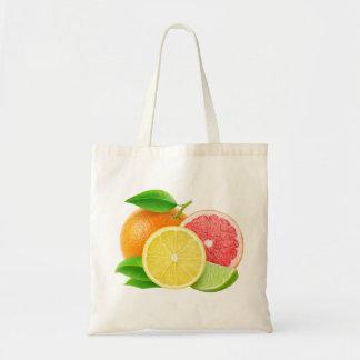 Citrus fruits budget tote bag