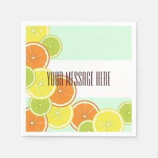 Citrus Fruits Pattern Cute Modern Summer Party Disposable Napkin