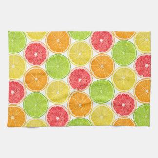 Citrus fruits pattern kitchen towels