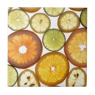 citrus fruits small square tile