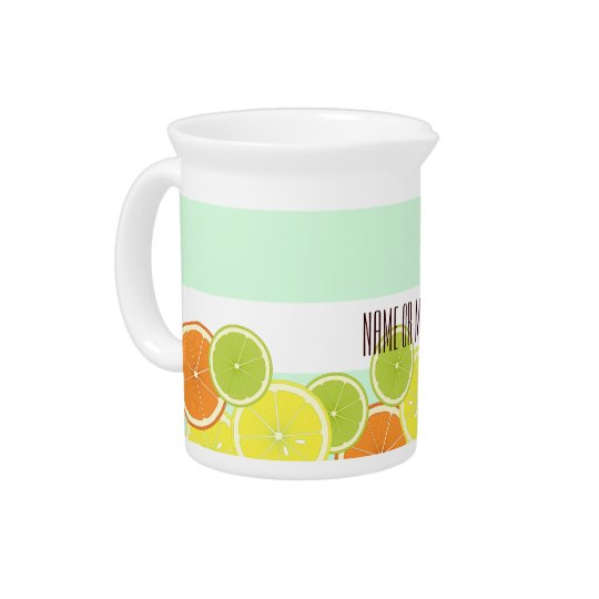 Citrus Fruits Summer Cute Modern Personalised Beverage Pitchers